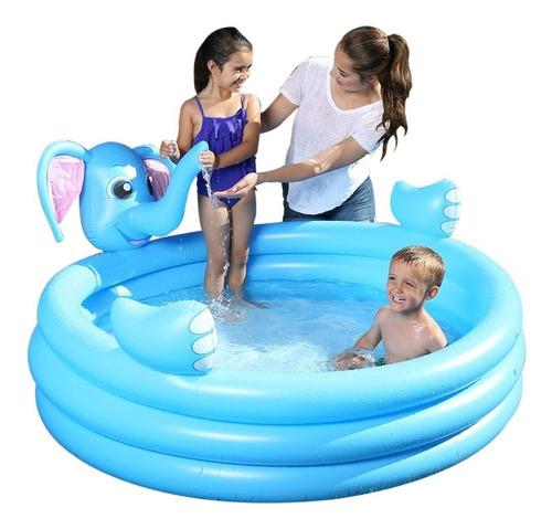 pileta/pelotero inflable infantil bebes elefante c/rociador