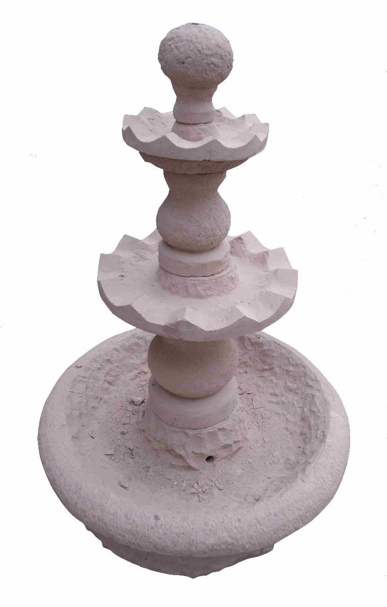 Piletas de agua en piedra rosada 02 en mercado for Piletas de agua para jardin