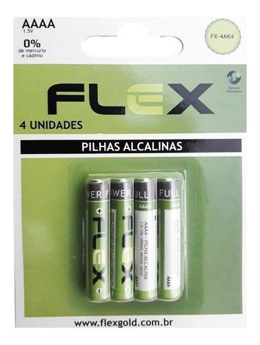 pilha aaaa palito mini alcalina 4a 10 cart. c/4 pilhas