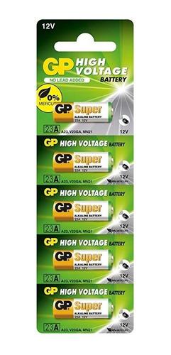 pilha bateria alcalina 12v a23 gp 23ae (cartela c/ 5 unid)