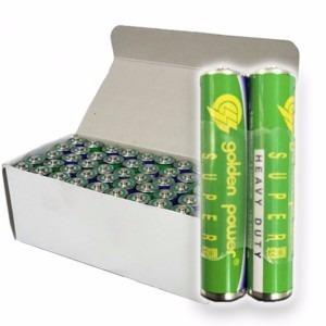 pilha golden power aaa caixa com 50 unidades