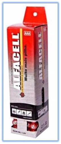 pilha palito aaa alfacell tubo com 60 unidades - 1614
