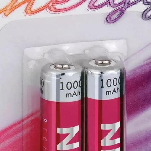 pilha recarregável 1.2v 1000mah cart. c/ 2 unidades
