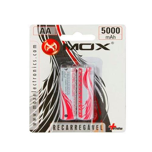 pilha recarregável mox 5000mah aa com 2 unidades (10)