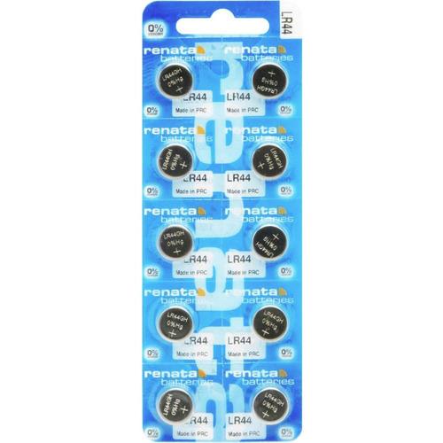 pilhas baterias a76, 1,5v renata lr44 original 10 un