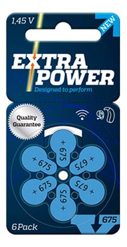 pilhas para aparelhos auditivos extra power p675
