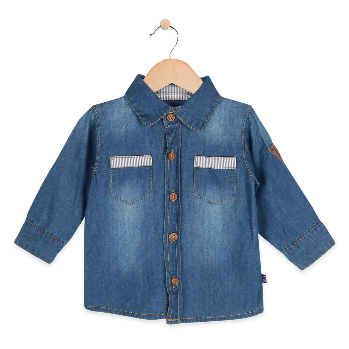 Pillin Camisa M larga Bebé Niño - Po708jea -   14.990 en Mercado Libre e8d9bdd92da