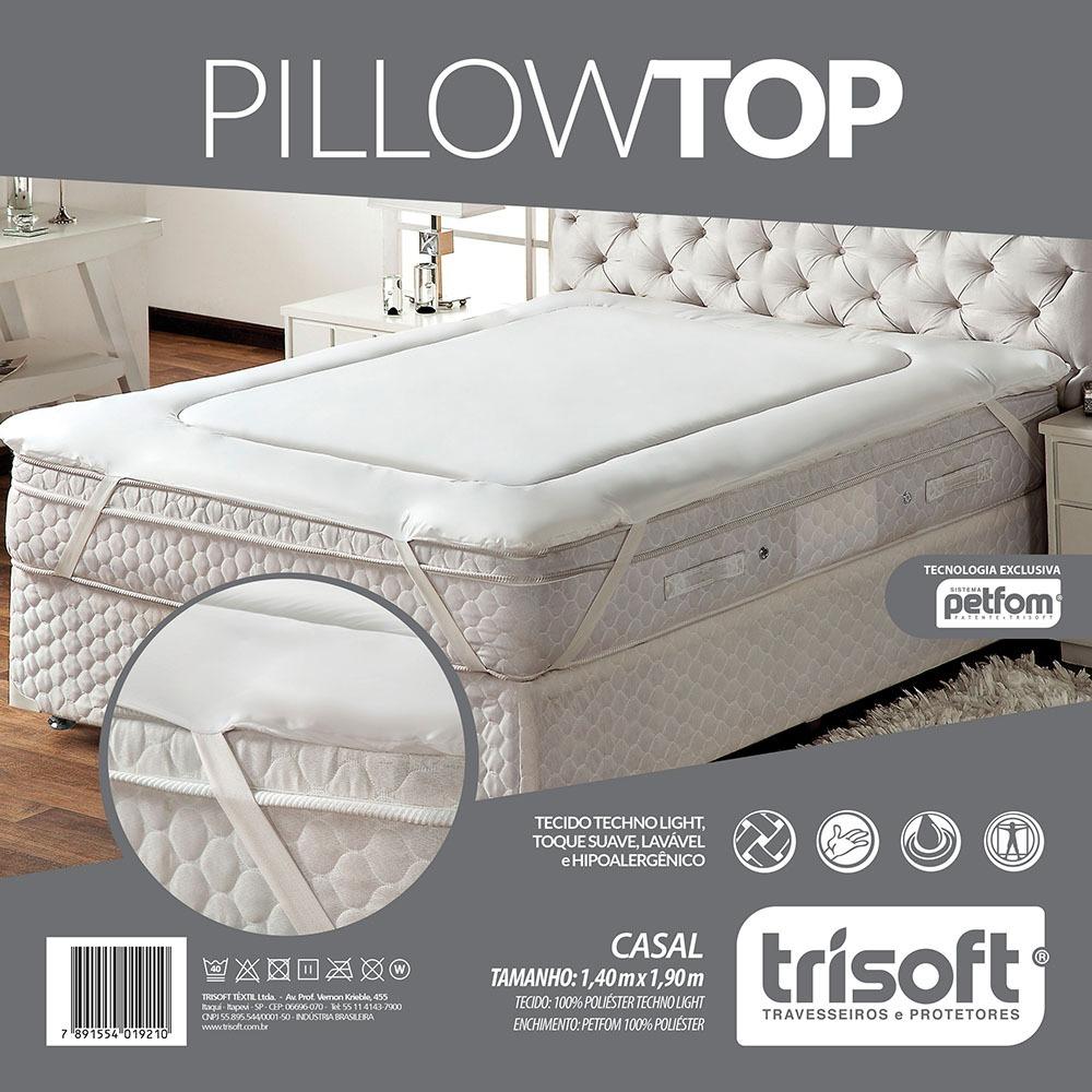 f07d25ac5 Pillow Top Colchão Casal De Fibras Petfom Trisoft - R  240