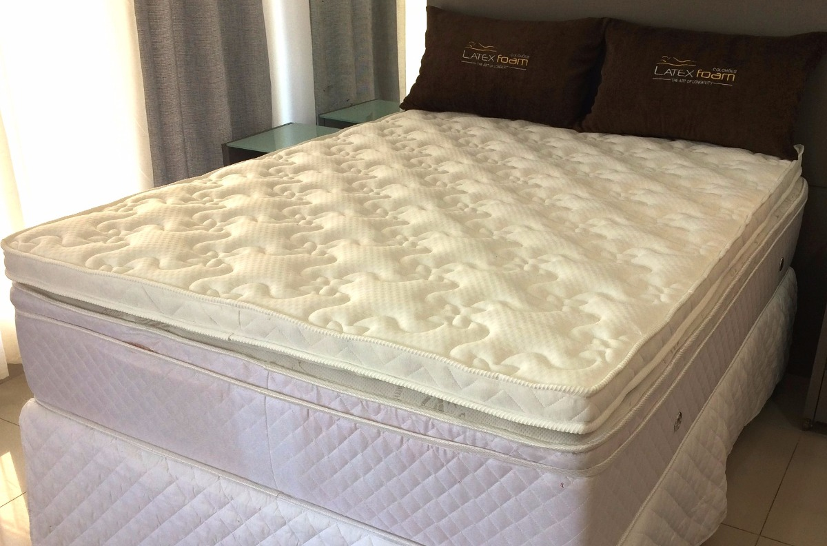 buy popular 3080f 99ed9 Pillow Top Topper Látex Natural Latex Foam Solteiro 88x188x8