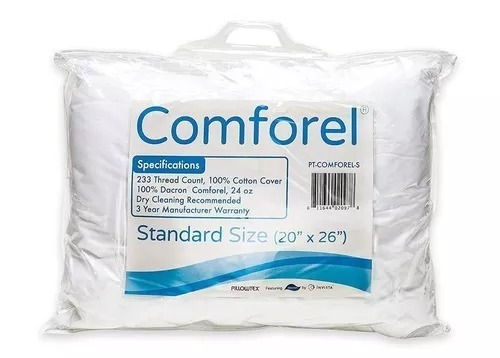 pillowtex comforel queen 2 almohadas set