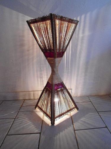 pilão 80cm luminária rustica artesanal pico das artes