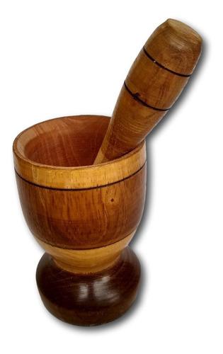 pilão de madeira amassador de temperos ref: 9326