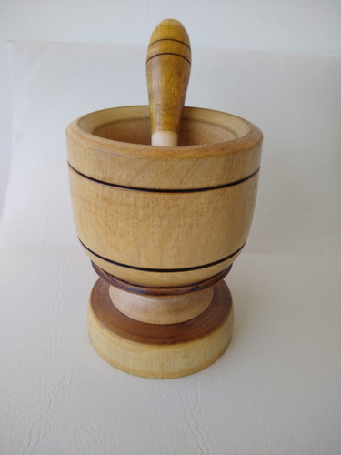 pilão de madeira amassador de temperos ref: 9343