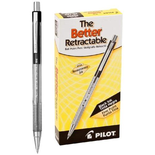pilot better ball point pen, ink.7mm, paquete
