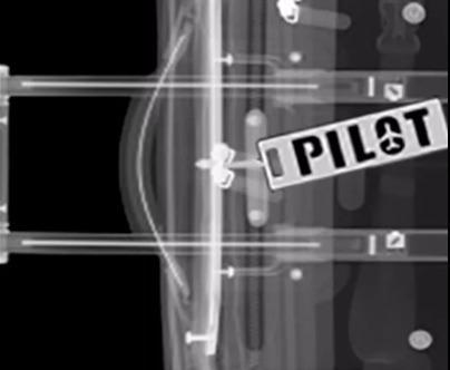 pilot tag inox tsa x-ray avsec remove before flight ®