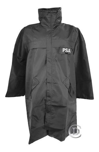 piloto capa lluvia psa impermeable capucha negro