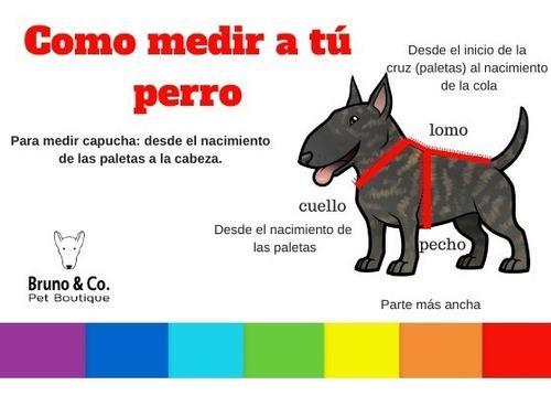 piloto impermeable para perros con capucha (xxl) 70 cms