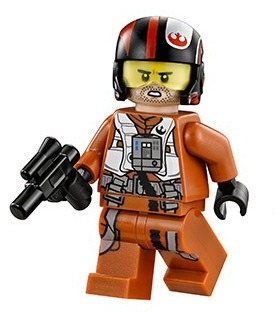 piloto x wing figther poe dameron star wars compatible bloqu