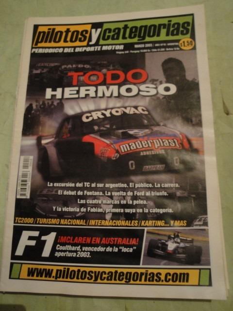 Pilotos Y Categorias 18 Turismo Carretera Tc2000 Formula Ren - $ 102,30