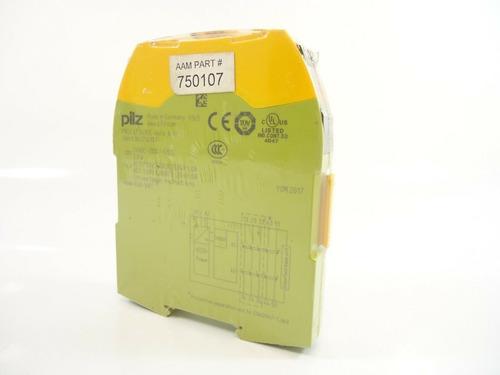 pilz pnoz s7 safety relay 24 vdc 4n/o 1n/c 750107