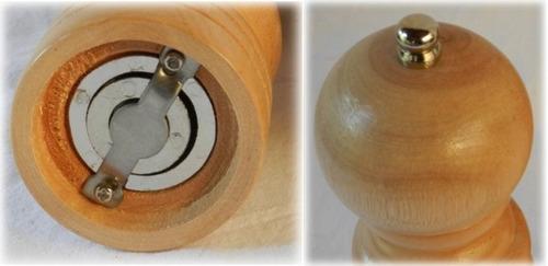 pimentero molinillo de madera 20cm carol con caja
