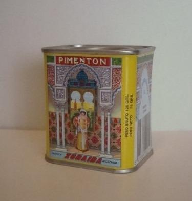 pimentón picante español zoraida lata 125 grs neto 75 grs