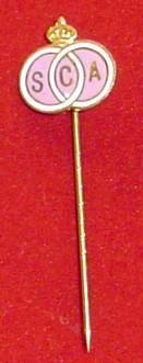 pin antiguo de futbol - belgica
