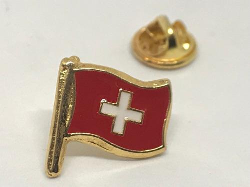pin bandera suiza