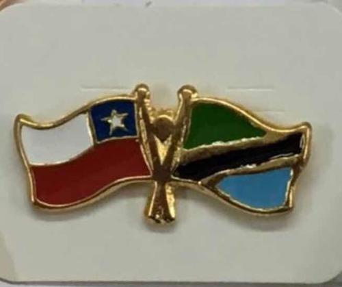 pin banderas chile - colombia