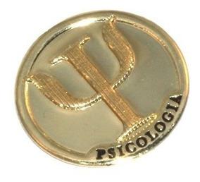 88b077b60a1969 Pin Bottom Broche Medalha Psicologia Psicologa Folheado Ouro