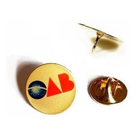 Pin Botton Broche Folheado Ouro, Oab Colorido