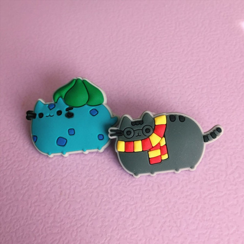 pin broche gato pusheen cosplay y cute set 2 unidades.