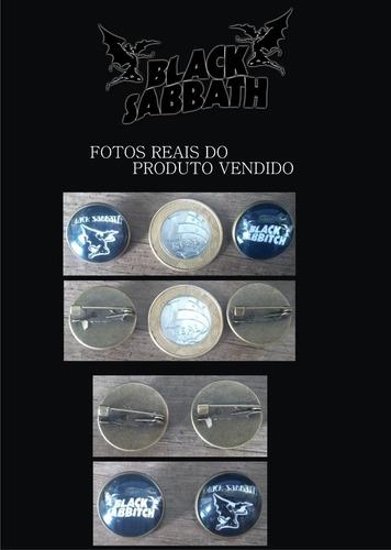 pin - broche - metal - black sabbath  - importado