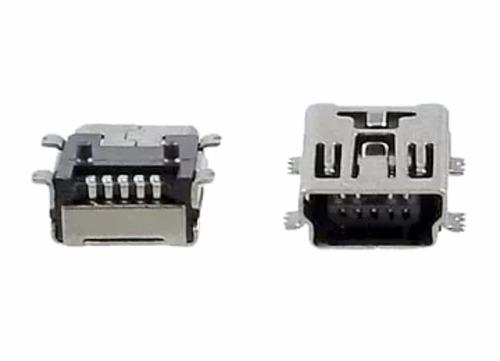 pin de carga miniusb jack 5pines hembra lote de 5 unidades