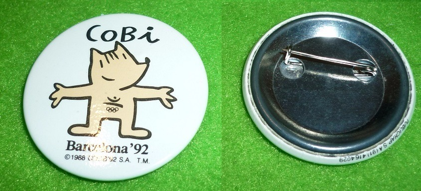 Pin Distintivo Cobi Mascota Juegos Olimpicos Barcelona 92 90 00