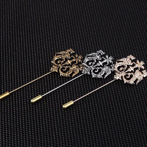 pin dragones heraldic dorado, diseño único!
