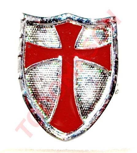 pin escudo caballero templario - masón, masonería