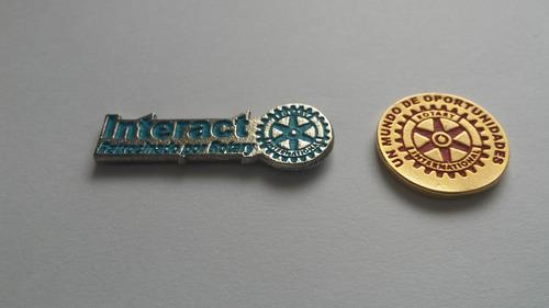 pin interact, rotary, rotaract, leones, lions cargos