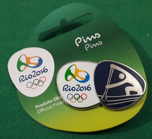 pin olímpico - rio 2016 - canoagem velocidade - memorabilia