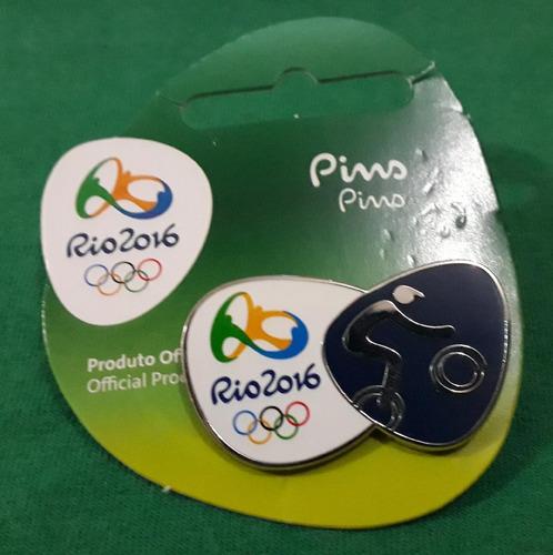 pin olímpico - rio 2016 - ciclismo bmx - memorabilia