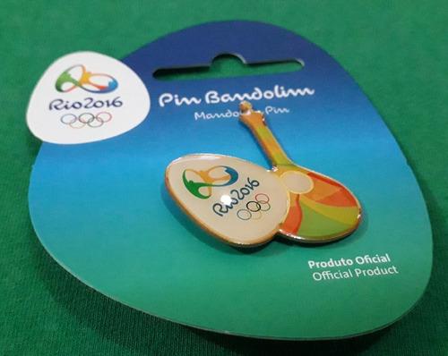 pin olímpico - rio 2016 - col samba - bandolim - memorabilia