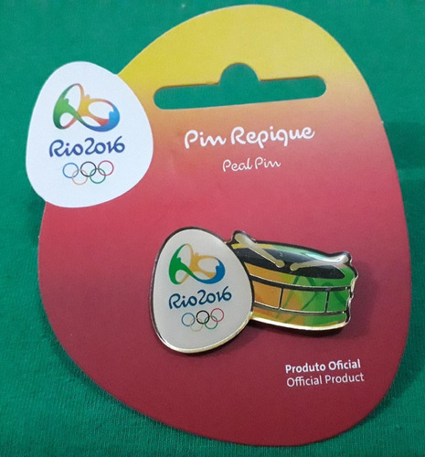 pin olímpico - rio 2016 - col samba - repique - memorabilia