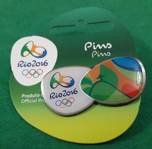 pin olímpico - rio 2016 - corcovado - memorabilia
