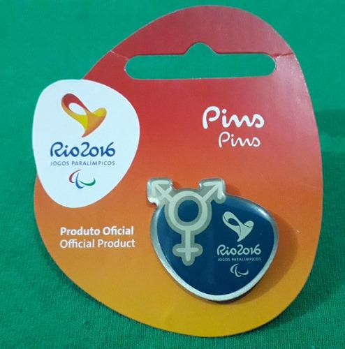 pin olímpico - rio 2016 - div. paral. transex - memorabilia