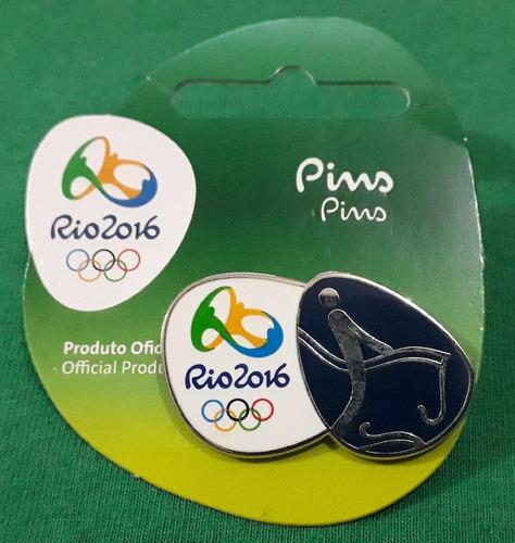 pin olímpico - rio 2016 - hipismo cce - memorabilia
