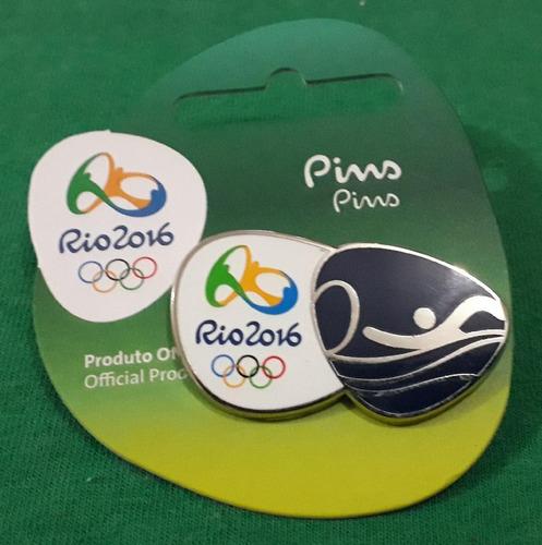 pin olímpico - rio 2016 - maratonas aquáticas - memorabilia