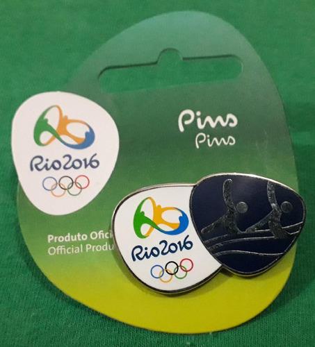 pin olímpico - rio 2016 - nado sincronizado - memorabilia