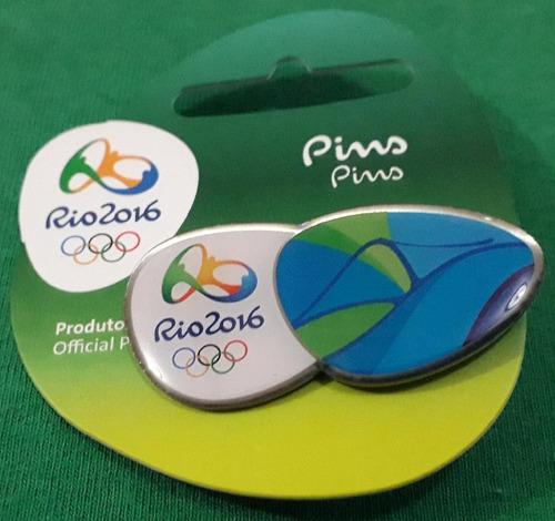 pin olímpico - rio 2016 - pão de açúcar - memorabilia