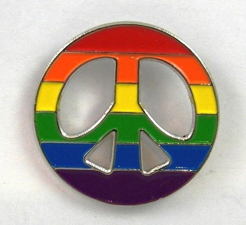 pin peace arcoiris pines 1.5 pulgada diametro orgullo gay