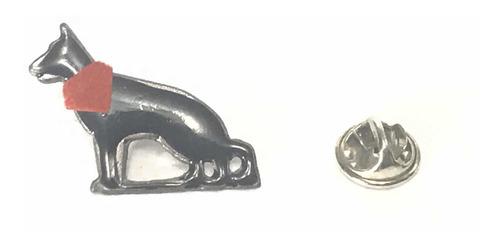 pin perro negro matapacos (cuerpo entero con paño tela roja)